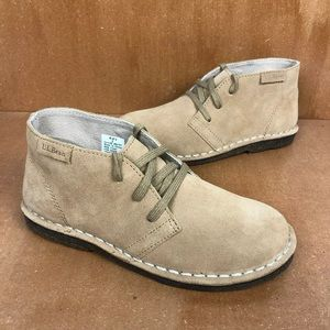 NEW LL Bean Suede Chukka Boots Water Resistant
